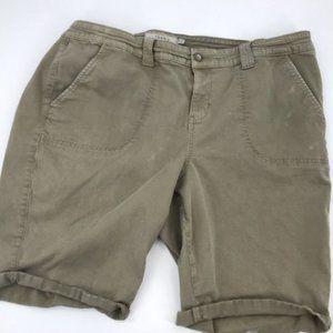 Torrid Plus Cargo Morel Twill Military Shorts 24